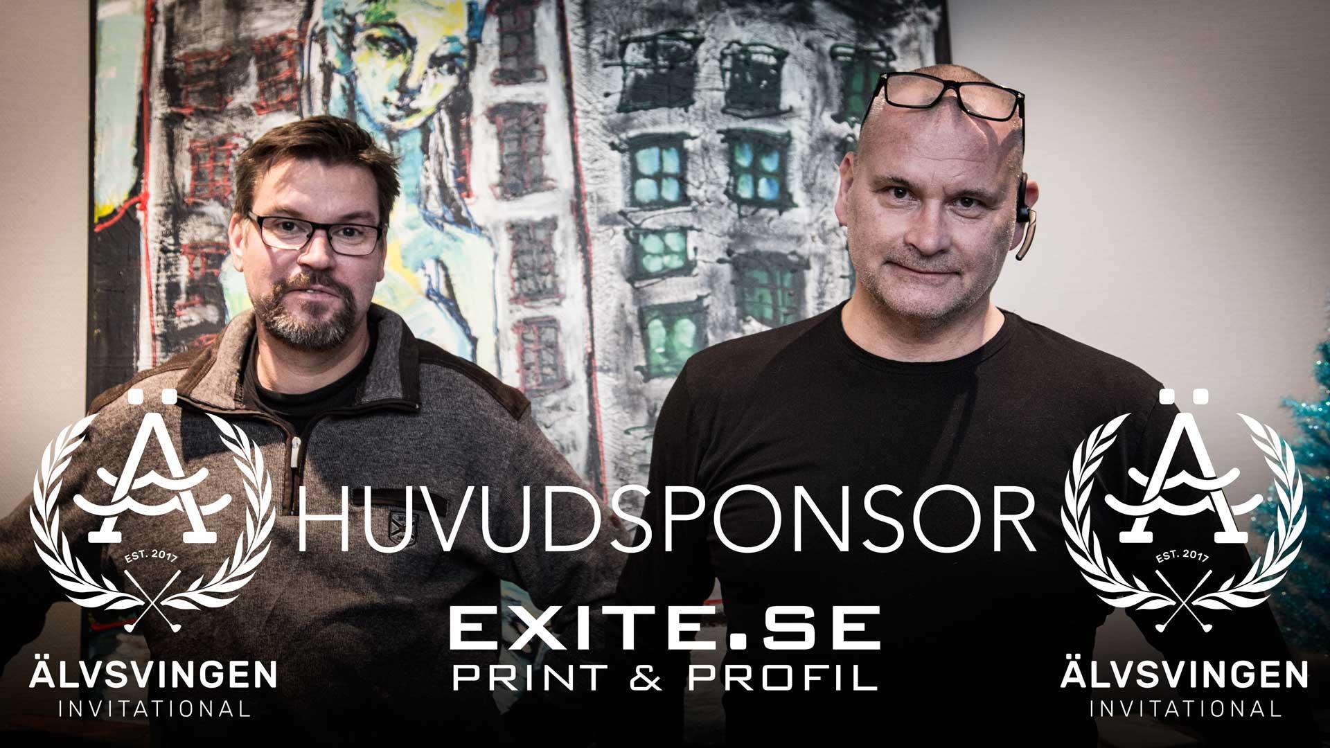Exite Print & Profil går in som Huvudsponsorer i Älvsvingen Invitational 2018