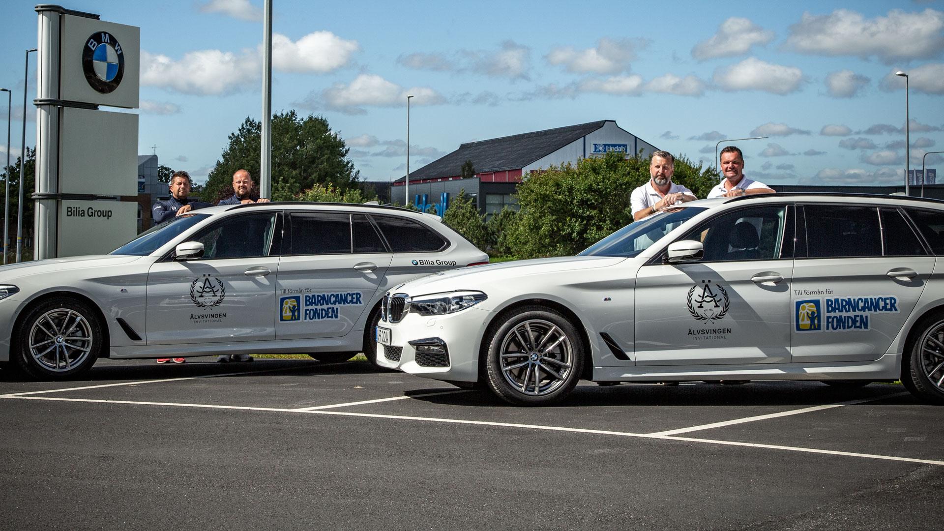 Vi åker BMW från och till tävlingen i år igen!