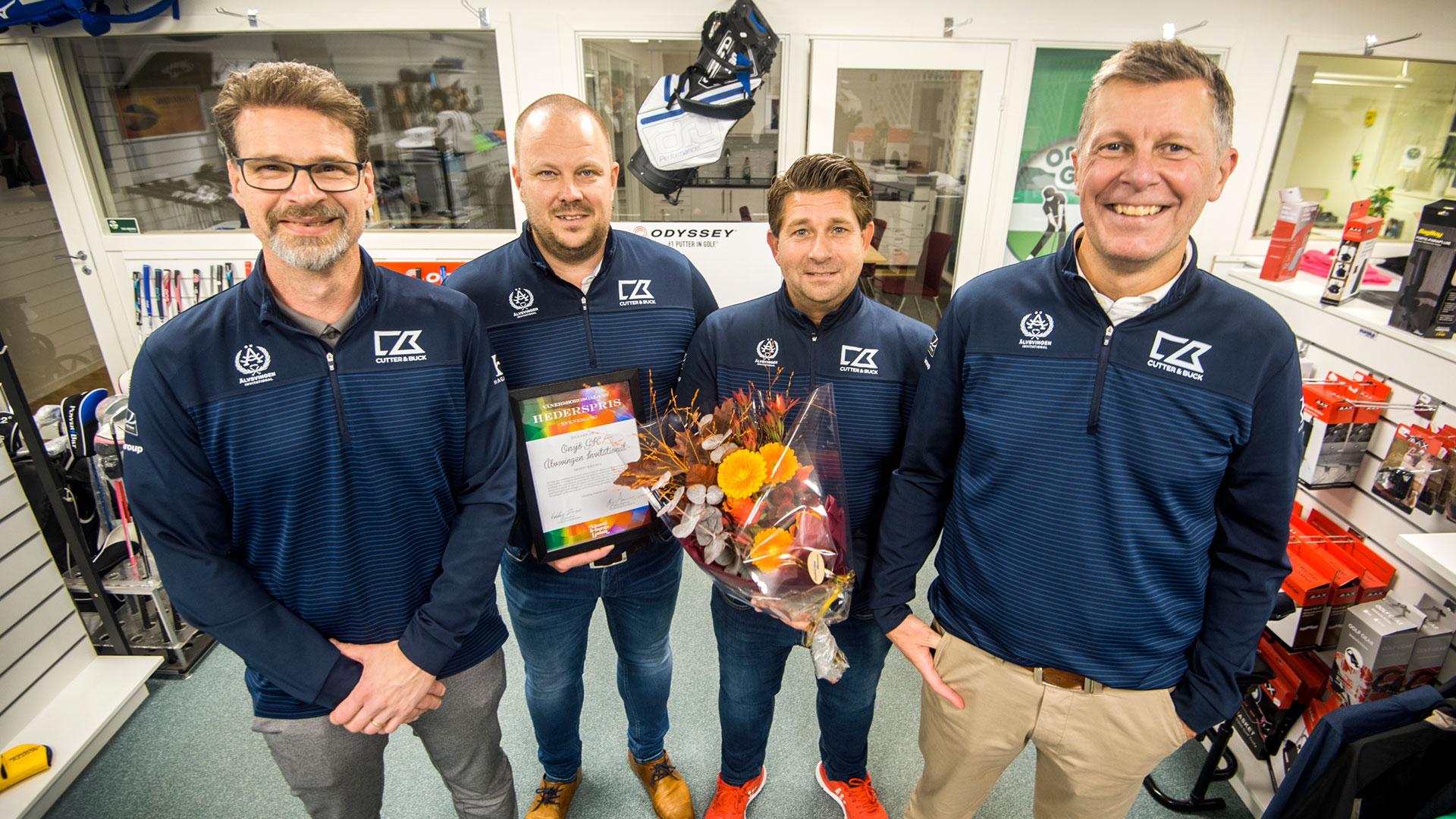 Start tack! Vi (Onsjö Golfklubb) vann pris för årets bästa evenemang